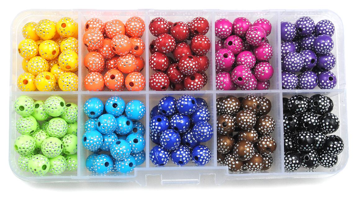 zestaw zdobionych kulek - 10 kolorów