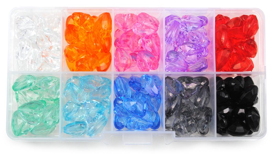 zestaw koralików serduszek - 10 kolorów